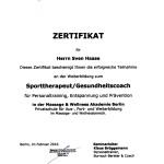 Sporttherapeut u. Gesundheitscoach